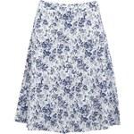 Modro-bílá květovaná sukně Fever London Lithco