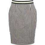 Modro-bílá pruhovaná sukně Fever London Barbican