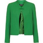 Topshop Crepe Notch Front Jacket