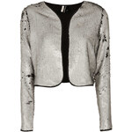 Topshop Cropped Sequin Bolero Jacket