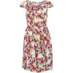 Květinové šaty Louche laděné do červeno-růžové