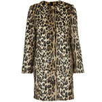Topshop **Faux Fur Animal Print Coat