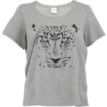 Šedé tričko s potiskem JUNAROSE Fair Beth