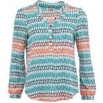 Modrá oversized košile Louche Pauli se vzorem