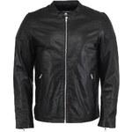 Pánská kožená bunda Jack & Jones Victor v černé barvě