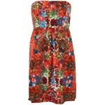Květované šaty Lavand laděné do červena