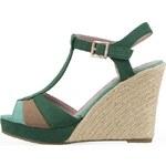 Zelené sandálky na klínku Refresh