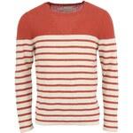 Červený pánský svetr Selected Ellis s krémovými pruhy