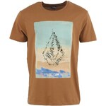Hnědé pánské triko s potiskem Volcom Volcommater