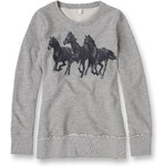Esprit blended cotton glitter print sweatshirt