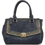 Cvočkovaná tmavě modrá kabelka Gionni