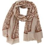 Béžovo-hnědý šátek INVUU London se vzorem