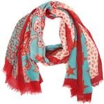 INVUU London Jemný šátek NVUU London v červené a mintové barvě