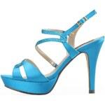 Modré sandálky na podpatku Victoria Delef