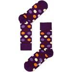 Fialové dámské ponožky s puntíky Happy Socks Big Dot