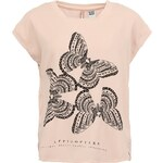 Růžový oversized top s motýly Vero Moda Abisi