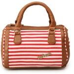 Malá proužkovaná kabelka Refresh v červeno-bílé