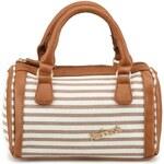 Malá proužkovaná kabelka Refresh v béžovo-bílé