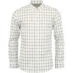 Bílá pánská kostkovaná košile Selected Broadway
