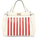 Dice Handbags Červeno-bílá pruhovaná kabelka Dice