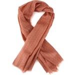 Růžový šátek YAYA se zubatým vzorem