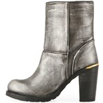 Stříbrné vyšší boty Timeless