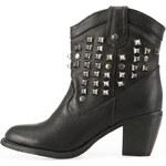 Černé kotníčkové boty s cvočky Timeless