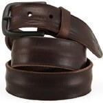 Pánský hnědý kožený pásek Jack & Jones