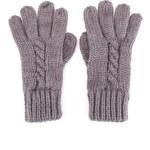 Šedé pletené rukavice Passigatti
