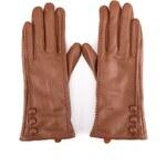 Hnědé kožené rukavice Something Special