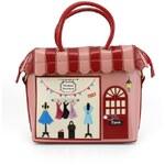 Červená kabelka Vendula London s módním butikem