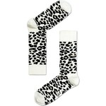 Černo-bílé unisex ponožky Happy Socks Leopard