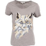 Béžové tričko YAYA Fox s flitry