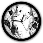 Černobílé nástěnné hodiny Dogo More