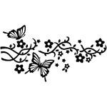 Ambiance Nástěnná samolepka Ambience s motýly s otvory pro věšáčky