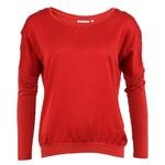 Tričko s dlouhým rukávem YAYA ve vínové barvě