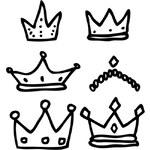 Samolepky Chispum Six crowns by Javirroyo