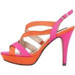 Růžovo-oranžové lodičky Victoria Delef