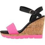 Růžové páskové boty na platformě Rascal