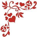 Romantická rohová samolepka Ambiance