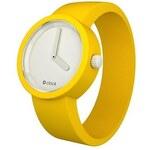 Žlutý silikonový pásek na hodinky O clock