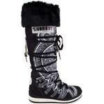 Snoboot - Stylové módní sněhule Tattoo High Black / černá - Velikost 36
