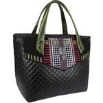 GOSHICO - Kufříková kabelka přes rameno i do ruky PETIT PEPIT (černá) - 1519