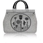 GOSHICO - Plstěná vyšívaná kufříková kabelka do ruky (menší) FLOS - 24-301