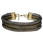Topshop Enge, dreireihige Halskette mit Maschenüberzug - Metallmix