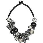 Topshop Premium Blumencollier mit schwarzen Perlen