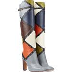 Valentino Dotcom Colorblock Knee-High Boot
