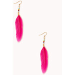 Forever 21 Standout Feather Earrings