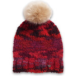 Esprit chunky knit hat with faux fur bobble