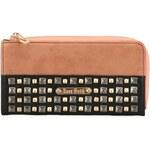 Růžovo-černá peněženka s cvočky Anna Smith